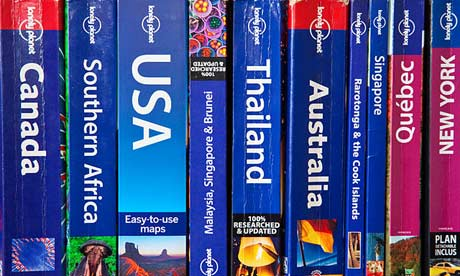 A collection of Lonely Planet travel guides